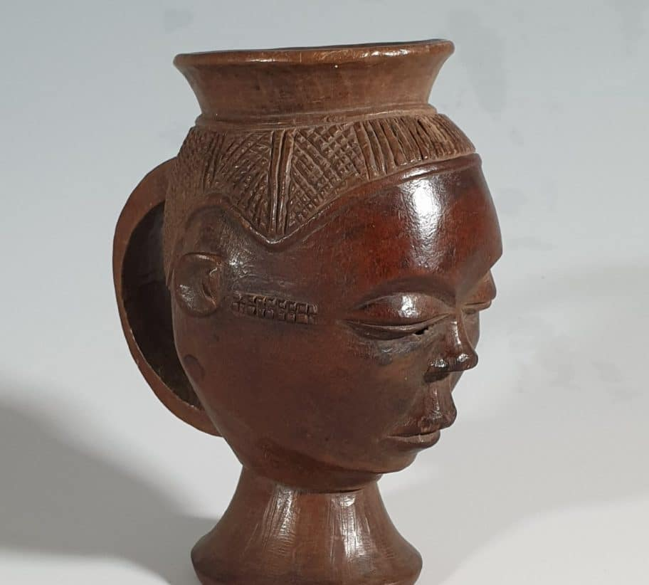 Pende cup tribal art