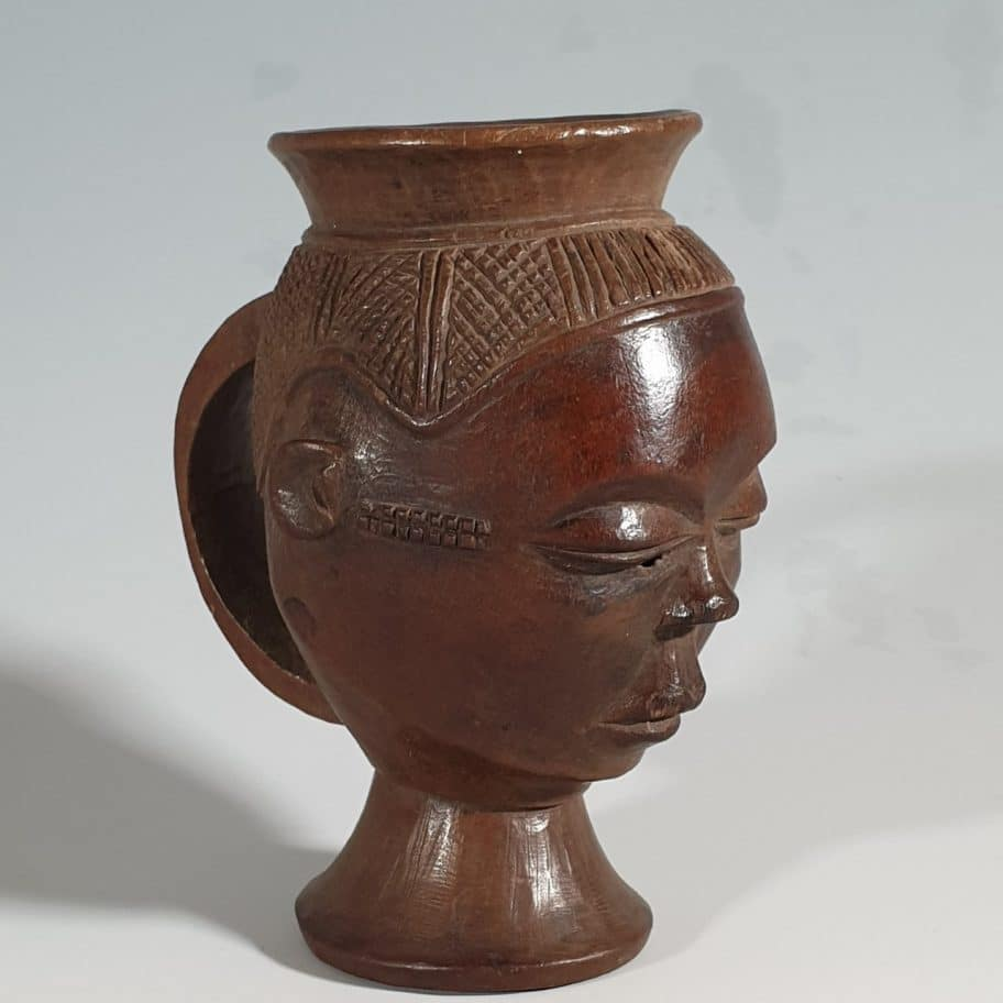 Pende cup tribal art