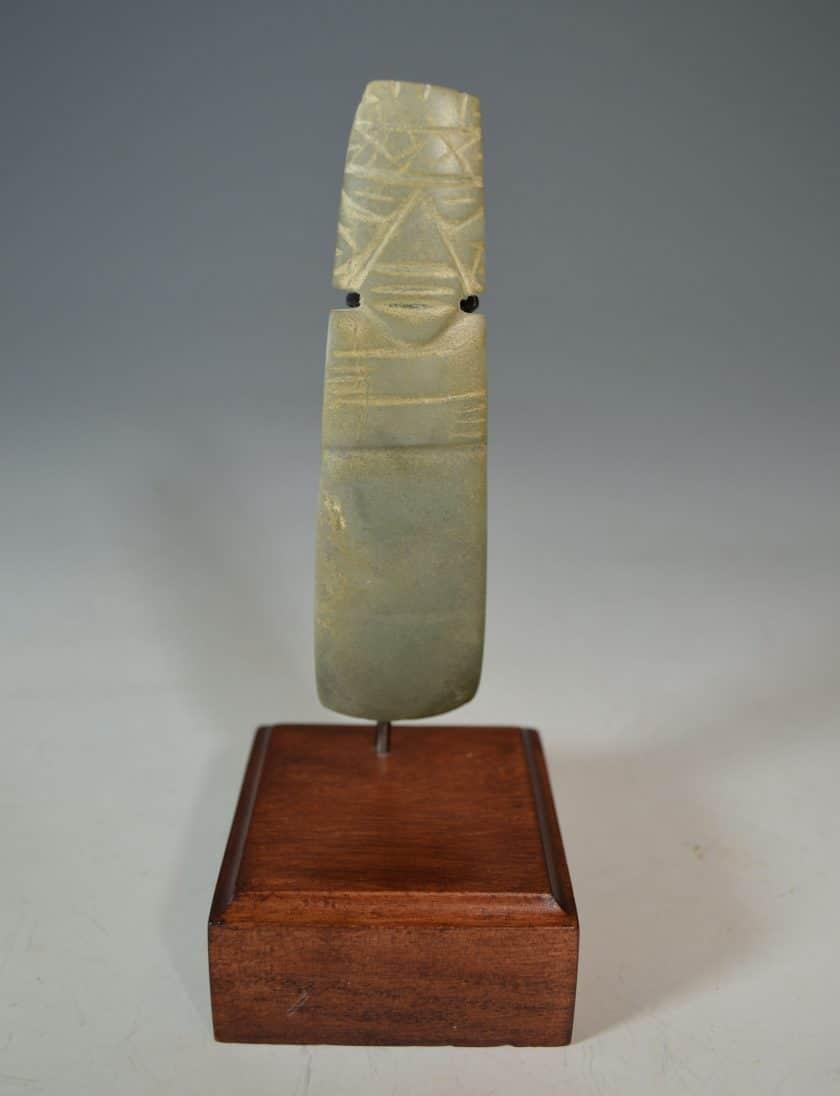 Pre Columbian Costa Rican Jadeite Axe God celt pendant