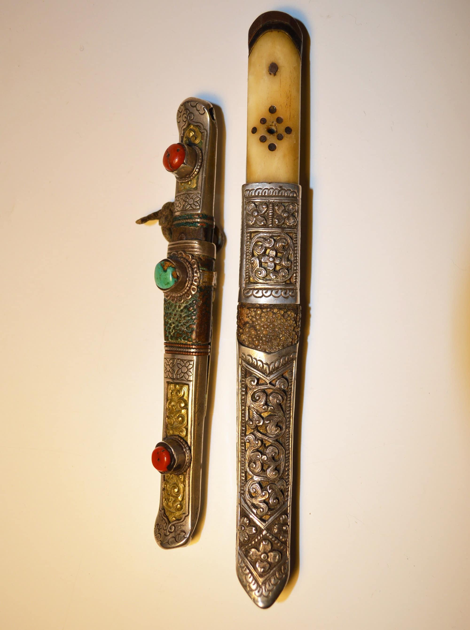 antique Tibetan knives