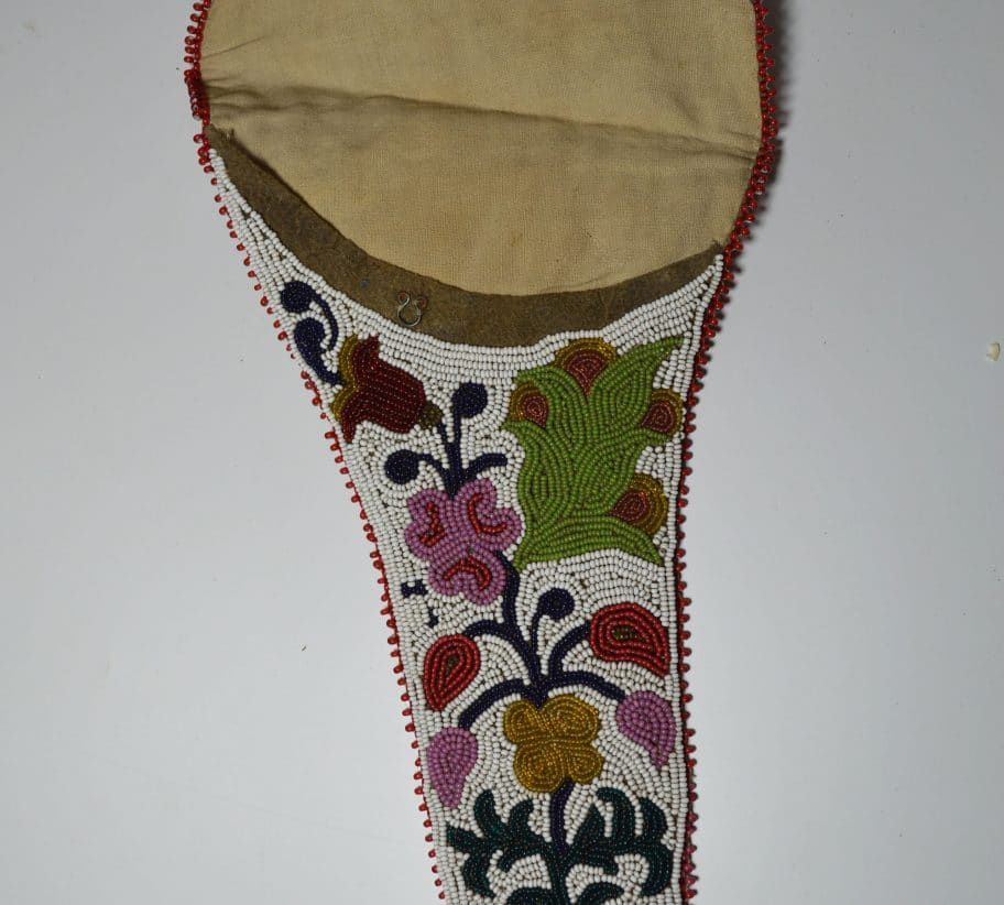 Old Native American Indian Chippewa beaded holster