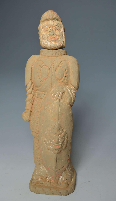 Northern wei dynasty warrior figure