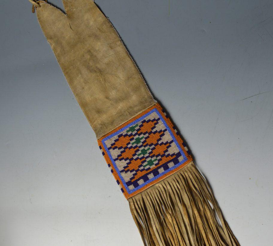 blackfoot pipe bag Native American
