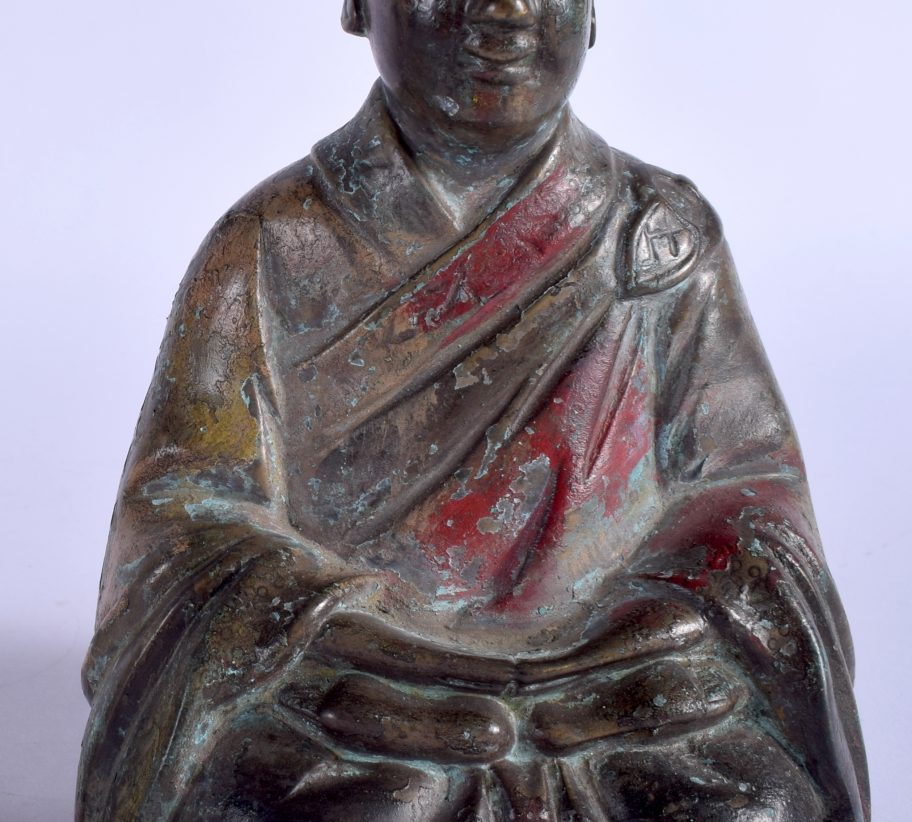 japanese bronze monk antique